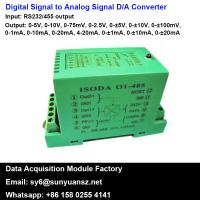 Quality RS232/485 to 4-20mA/0-10V A/D Converters With Modbus for sale