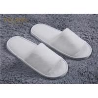 Quality Nature Cotton Custom Hotel Slippers For Men And Women Open Toe Terry Cloth Slippers for sale