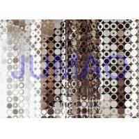 Quality Durable Decorative Metal Curtains Light Silver Air Flow For Hotel Decoration for sale
