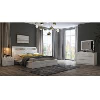 White High Gloss Bedroom Furniture / King Bed Headborad with ...