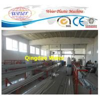 Quality Door / Window PVC Profile Extrusion Line Rain Gutter Machine With Lamination Machine for sale