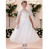 Quality China Flower Girl Dress/ Short Sleeve Lace Little Princess Flower Girl Dress for sale