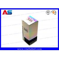 Quality Holographic Small 10ml Vial Boxes / Eco Friendly Pharmaceutical Packaging Boxes for sale