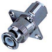 Quality RG58 / 59 / 6U Cable Zinc /  Copper Material  BNC Male Crimp  Panel Connector for sale