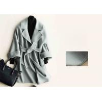 China Soft Warm Handmade Wool Coat , Ladies Tailored Wool Coat Many Colors Available on sale