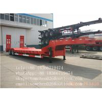 China low body semi trailer / china heavy duty 80T low bed semi trailer sale on sale