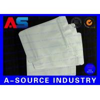 Quality 7 * 10 Cm White Plastic Sleeves Aluminum Foil Bags Zip Lock Pounch For Capsules for sale