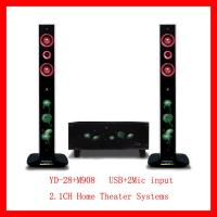 Quality 2.1CH Home Theater Systems USB+2mic Input (YD-28+M908) for sale