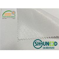 Quality 100% Polyester Interlining Fabric With Flat Coating HDPE For Casual Shirt for sale