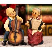 Buy cheap Coloured drawing or pattern resin wedding gift a couple playing guitar from wholesalers
