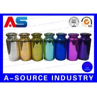 Quality Colorful Small Glass Vials Bottles Embossed , 10ml Glass Dropper Bottles for sale