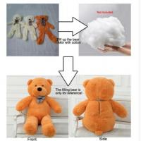 Quality Hung Plush Pink Unstuffed Teddy Bear Skins With Zipper , Semi - Finished Product for sale