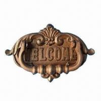 China Board Door Knocker, Made of Cast Iron, Measures 21.2 x 3 x 14cm on sale