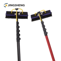 Quality Processing Fiberglass 50% Glossy Telescopic Window Cleaning Brush Pole for sale