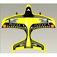 Quality Yellow Mini 2CH Remote Controlled RC Airplanes With Propeller Saddle, EPP Material for sale