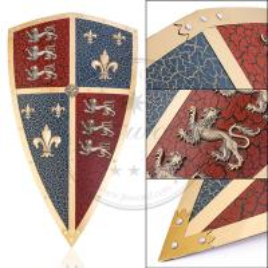 Quality 17.7 x 30.7 Wall Decor Metal Medieval Shields , Medieval Black Prince Shield for sale