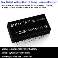 Quality Low Cost One Input and Two Output Voltage/Current Analog Isolation Converters for sale