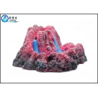 Quality Bubbler Erupting Volcano Aquarium Decorations For Fish Tank Resin Ornaments Gift for sale