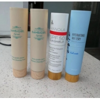 Quality High Quality Soft Touch package Skin Care Plastic Cosmetic Packaging Tube with bamboo lid for sale