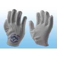 Quality Bleached White Marching Band Gloves Great Flexibility With Plastic Button for sale