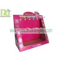 Quality Cardboard counter display with hooks countertop displays pos displays CDU fixtures ENCD002 for sale
