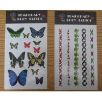 Quality Personalized Temporary Tattoo Stickers For Women , Water Transfer Body Arm Tattoo for sale