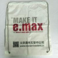 Quality Rope Shoulder Custom Plastic Drawstring Bags Double Layer Material Synthetic for sale