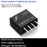 Quality 1W Fixed Input Isolated and Unregulated Single Output DC/DC Converter Module for sale