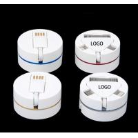2017 new design Round shape extended multi usb cable 3in1original micro usb data
