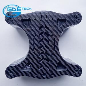 Quality glossy matte woven carbon fiber universal plate, carbon fiber cnc cutting parts for drones for sale
