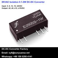 Quality Miniature 1W 3KVDC Isolated Unregulated DC/DC Converters for sale