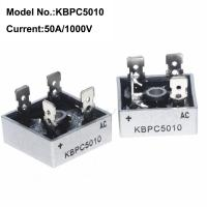 China 50 Amp 1000V Bridge Rectifier Through Hole Plastic KBPC Heat Sink High Voltage Bridge Rectifier on sale