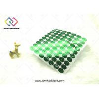 China Round Vinyl Hologram Security Stickers / Green Hologram Sticker Labels on sale