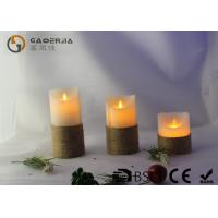 Quality Smooth Surface Finish Pillar Moving Flame Led Candles For Party MF-003 for sale