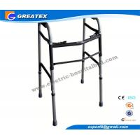 Quality Medline folding walker With Double Buttons Height Adjustable with Optional Castor for sale