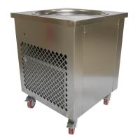 Quality Simple Operation Manual Fried Ice Cream Roll Machine Single Pan Cold Plate for sale