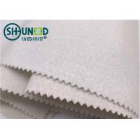 Quality 100% Polyester Plain Weave Woven Tie Interlining Fabric Single Side Brushed for sale