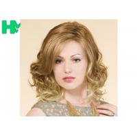 Buy cheap Blond High Temperature Fiber Side Part Wave Synthetic Hair Wigs For Women from wholesalers