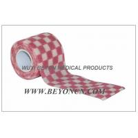 Quality Cohesive Bandages OEM Pink Check Elastic Wrap Custom Printed For Fixation for sale