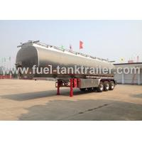 42000l Fuel Tank Trailer Easy To Clean , Fuel Storage Trailer With 24v Lighting System