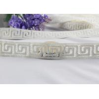 Quality Irregular Graph 100% Cotton Lace Fabric Trim For Garment By The Yard Water Soluble for sale