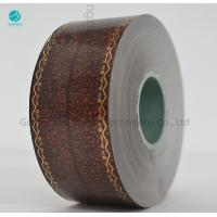 China Transfer Brown Cork Tipping Paper With Words Logo Design , Tobacco Filter Paper 36gsm on sale