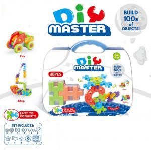 Jr.Engineer Brain Blocks Building Set:Digital Puzzle Building STEM Educational Construction Toy 40 - Piece Set