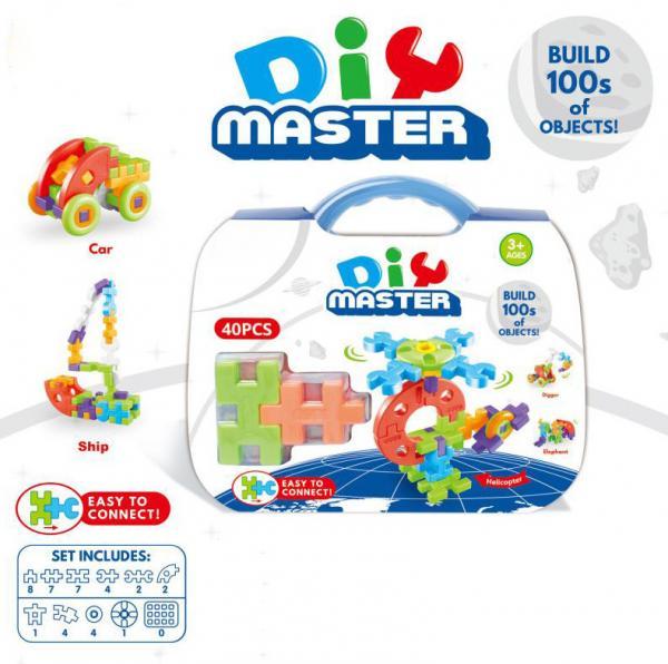 Buy Jr.Engineer Brain Blocks Building Set:Digital Puzzle Building STEM Educational Construction Toy 40 - Piece Set at wholesale prices