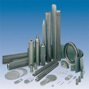 Quality titanium cartridge filters filter cartridge manufacturers Tio2 porous metal filter for sale