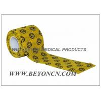 Quality Smile Face Prints Printed Athletic Tape Self Adhesive Flexible Wrap CE FDA Approved for sale
