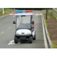 China Customized White Utility Golf Cart , Electric Police Car For 4 Person on sale