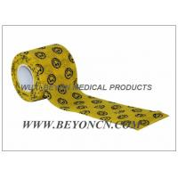 Quality Smile Face Prints Custom Printed Self Adhesive Bandage Vet Cohesive Flexible Wrap for sale