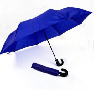 Mens Compact Umbrella Push Button Open CloseRoyal Blue 21 Inches Plastic Tips