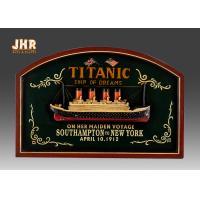 Quality Memorial Titanic Wall Decor Wooden Wall Plaques Resin Cruise Ship Antique Wood Pub Sign for sale